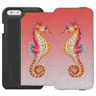 Coque-portefeuille iPhone 6 Incipio Watson™ bulles de rouge d'hippocampe