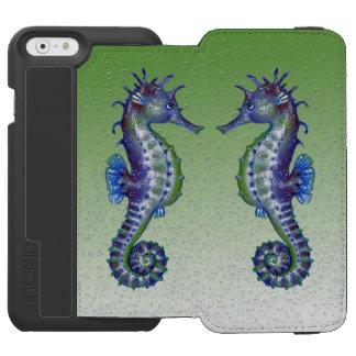 Coque-portefeuille iPhone 6 Incipio Watson™ bulles vertes d'hippocampes