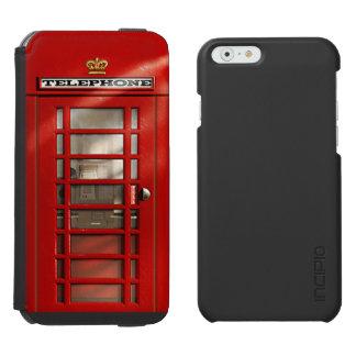 Coque-portefeuille iPhone 6 Incipio Watson™ Cabine téléphonique rouge britannique classique