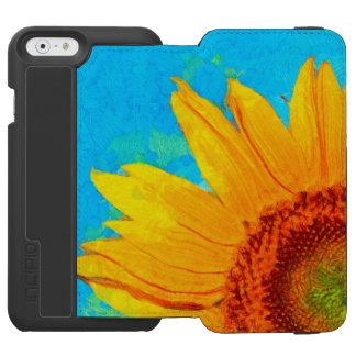 Coque-portefeuille iPhone 6 Incipio Watson™ Carré de Van Gogh de tournesol