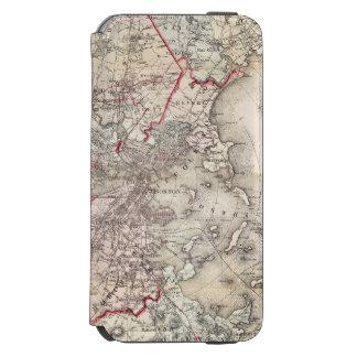 Coque-portefeuille iPhone 6 Incipio Watson™ Carte : Boston, 1883