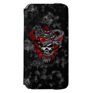 Coque-portefeuille iPhone 6 Incipio Watson™ Cas de l'iPhone 6s de lis du crâne w/Shadow de