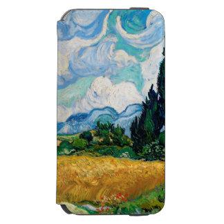 Coque-portefeuille iPhone 6 Incipio Watson™ Champ de blé avec des cyprès par Vincent van Gogh