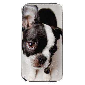 Coque-portefeuille iPhone 6 Incipio Watson™ Chiot d'Edison Boston Terrier