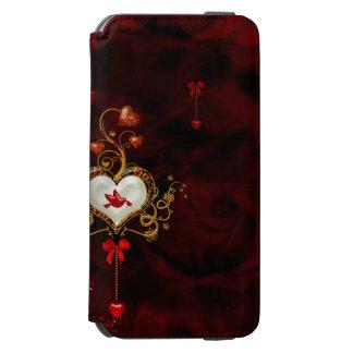 Coque-portefeuille iPhone 6 Incipio Watson™ Coeur merveilleux avec la colombe
