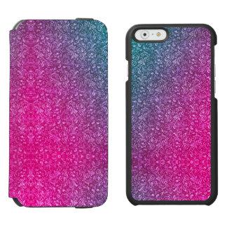 Coque-portefeuille iPhone 6 Incipio Watson™ Coloré lumineux floral bleu amorti de rose au néon