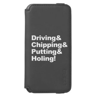 Coque-portefeuille iPhone 6 Incipio Watson™ Driving&Chipping&Putting&Holing (blanc)