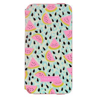 Coque-portefeuille iPhone 6 Incipio Watson™ Empreinte de léopard rose d'Aqua de pastèques