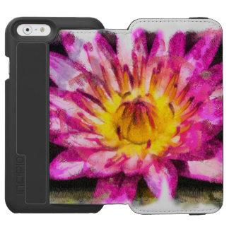 Coque-portefeuille iPhone 6 Incipio Watson™ Encre pourpre d'aquarelle de nénuphar
