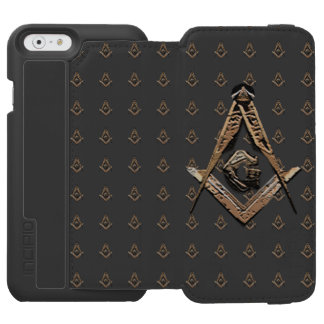 Coque-portefeuille iPhone 6 Incipio Watson™ Esprits maçonniques (d'or)