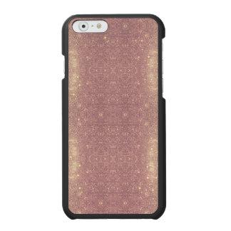 Coque-portefeuille iPhone 6 Incipio Watson™ Étincelle rose de l'espace de Faux de galaxie d'or