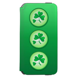 Coque-portefeuille iPhone 6 Incipio Watson™ Feuille de shamrock