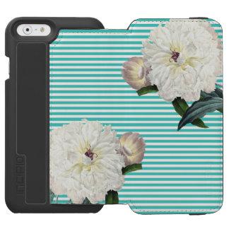 Coque-portefeuille iPhone 6 Incipio Watson™ Filets blancs de sarcelle d'hiver de pivoine