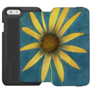 Coque-portefeuille iPhone 6 Incipio Watson™ Fleur jaune avec des pétales