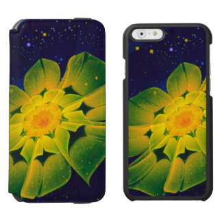 Coque-portefeuille iPhone 6 Incipio Watson™ Fractale bleue, verte, et jaune fraîche