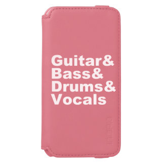 Coque-portefeuille iPhone 6 Incipio Watson™ Guitar&Bass&Drums&Vocals (blanc)