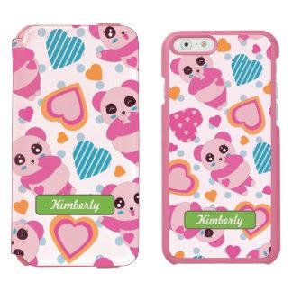 Coque-portefeuille iPhone 6 Incipio Watson™ J'aime les pandas mignons