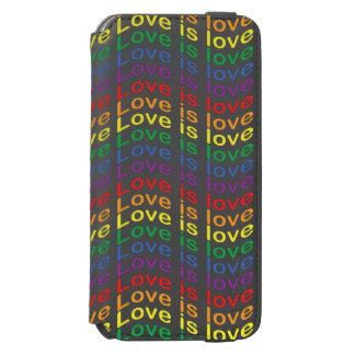 Coque-portefeuille iPhone 6 Incipio Watson™ L'amour de drapeau de fierté d'arc-en-ciel est