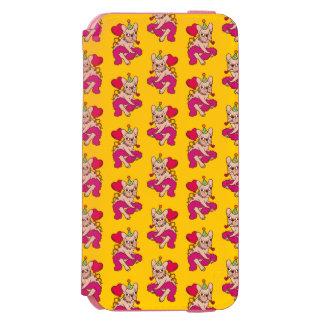 Coque-portefeuille iPhone 6 Incipio Watson™ Le bouledogue français est un fêtard