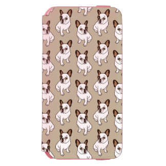 Coque-portefeuille iPhone 6 Incipio Watson™ Le faon adorable Frenchie pie