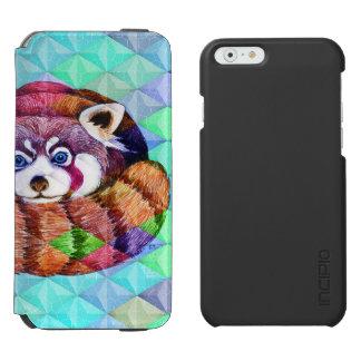 Coque-portefeuille iPhone 6 Incipio Watson™ Le panda rouge concernent le cubisme de turquoise