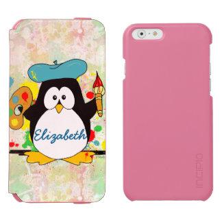 Coque-portefeuille iPhone 6 Incipio Watson™ Le peintre artistique de pingouin personnalisent