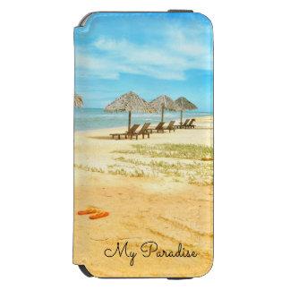 Coque-portefeuille iPhone 6 Incipio Watson™ L'eau bleue de scène tropicale de plage