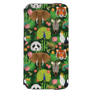 Coque-portefeuille iPhone 6 Incipio Watson™ Mélange animal tropical