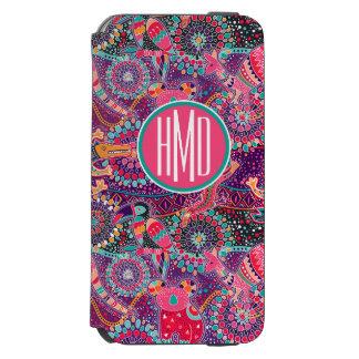 Coque-portefeuille iPhone 6 Incipio Watson™ Monogramme animal du motif | de style ethnique