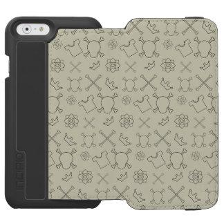 Coque-portefeuille iPhone 6 Incipio Watson™ Motif de crâne et d'os de crème brulée