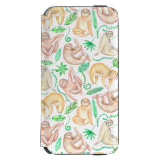 Coque-portefeuille iPhone 6 Incipio Watson™ Motif de paresse d'aquarelle