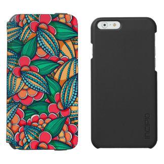 Coque-portefeuille iPhone 6 Incipio Watson™ Motif illustré abstrait coloré de graines de cacao