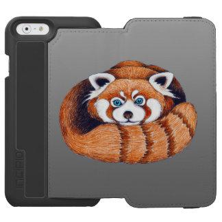 Coque-portefeuille iPhone 6 Incipio Watson™ Petit panda rouge sur le gris