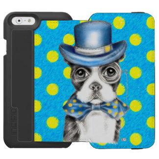 Coque-portefeuille iPhone 6 Incipio Watson™ Point de polka de Boston Terrier