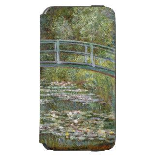 Coque-portefeuille iPhone 6 Incipio Watson™ Pont au-dessus d'un étang des nénuphars par Claude