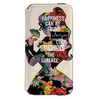 Coque-portefeuille iPhone 6 Incipio Watson™ Silhouette florale de belle de la princesse  