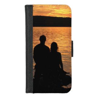 Coque Portefeuille Pour iPhone 8/7 Amants à l'iPhone de lac sunset 8/7 caisse de