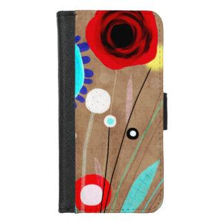 Coque Portefeuille Pour iPhone 8/7 Art abstrait floral