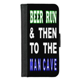 Coque Portefeuille Pour iPhone 8/7 Bière courue et puis à la caverne d'homme