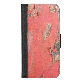 Coque Portefeuille Pour iPhone 8/7 Bois rouge vintage de grange