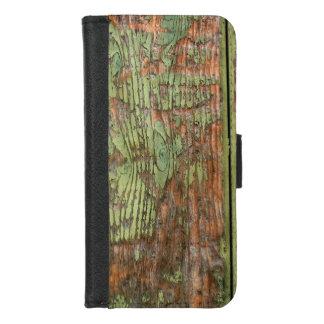 Coque Portefeuille Pour iPhone 8/7 Bois vert usé et patiné de grange
