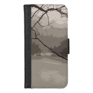 Coque Portefeuille Pour iPhone 8/7 Brouillard mystique et iPhone gris de marais 8/7