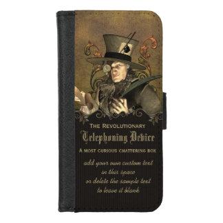 Coque Portefeuille Pour iPhone 8/7 Chapelier fou drôle de Steampunk personnalisé