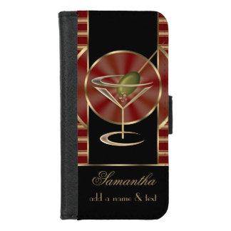 Coque Portefeuille Pour iPhone 8/7 Cocktails mignons de Martini personnalisés