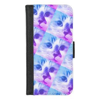 Coque Portefeuille Pour iPhone 8/7 Collage de chat