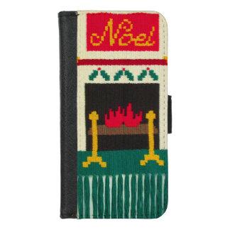 Coque Portefeuille Pour iPhone 8/7 Copie unique de crochet de cheminée de Noël de