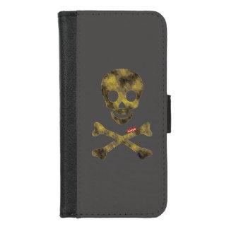 Coque Portefeuille Pour iPhone 8/7 Crâne de motif de camouflage