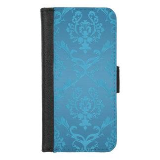 Coque Portefeuille Pour iPhone 8/7 Damassé fascinante moderne vintage de turquoise