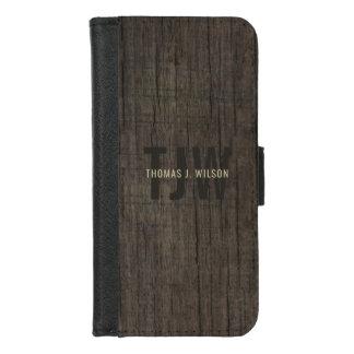 Coque Portefeuille Pour iPhone 8/7 Écorce naturelle en bois de Faux minimaliste du
