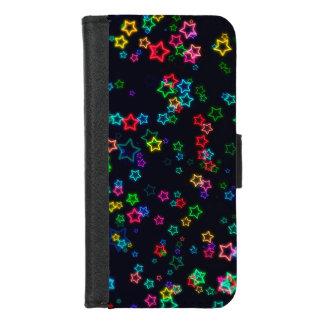 Coque Portefeuille Pour iPhone 8/7 Étoile au néon de bruit coloré